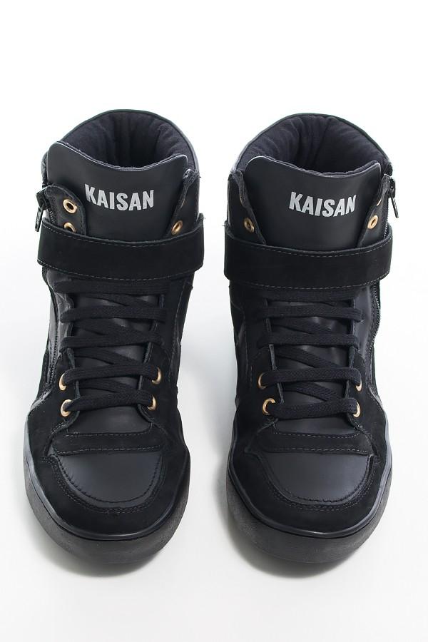 6d3adaaf6 Sneaker Unissex Preto com Sola Preta | Ref: KS-T36-002 | Kaisan