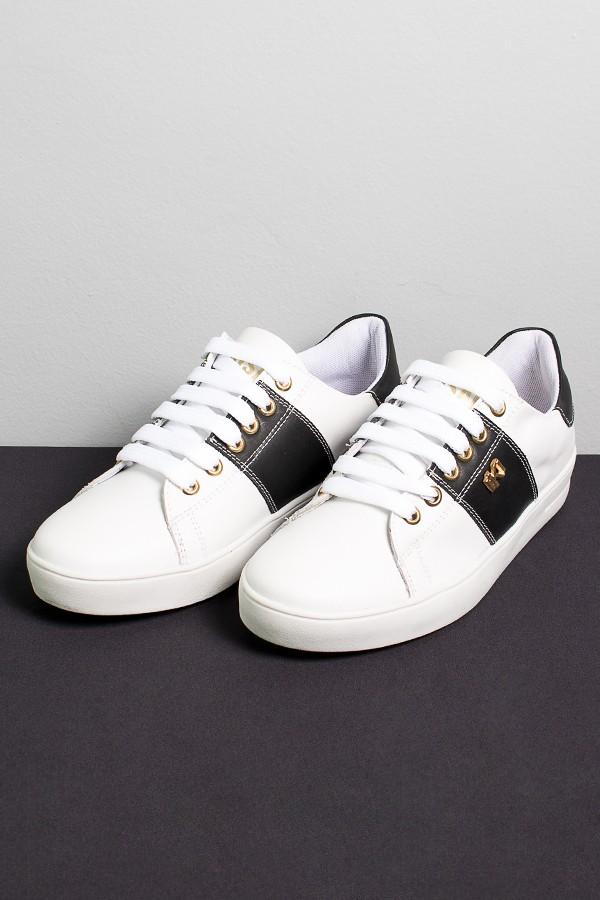 1c2c1bdc8bc Tênis Mini Sneaker com Cadarço (Branco   Preto)
