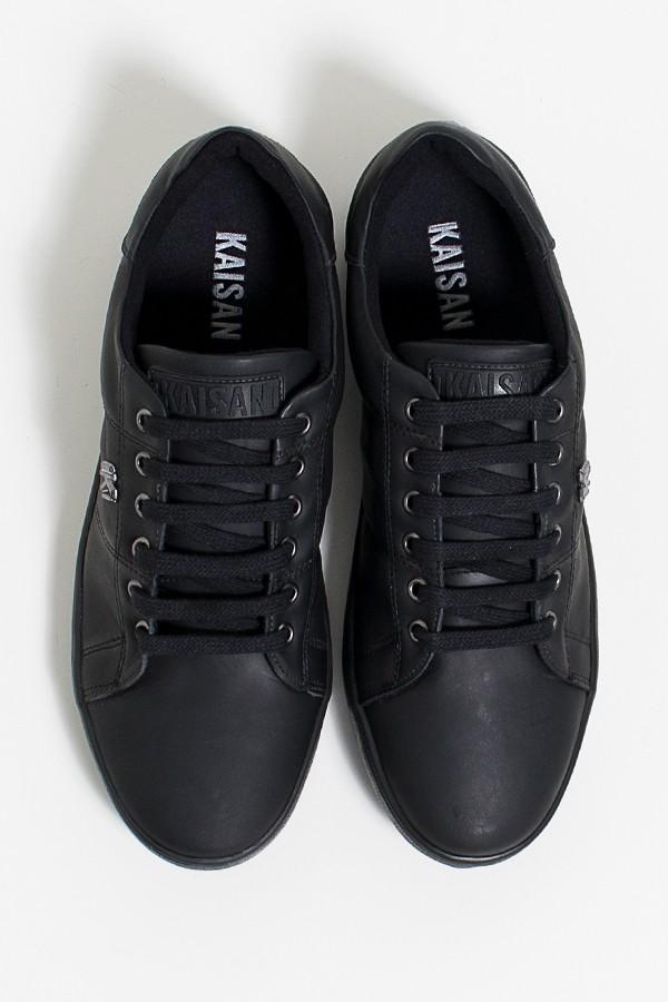 Tênis Mini Sneaker com Cadarço e Sola (Preto)  67c7922288506
