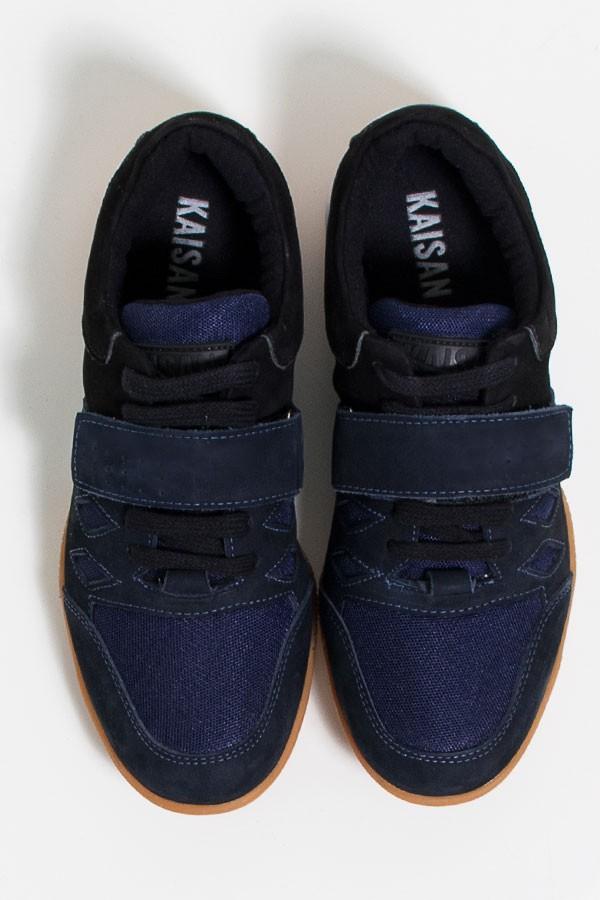 48002563af0 Tênis Crossfit Masculino com Velcro e Cadarço (Preto   Azul Marinho)