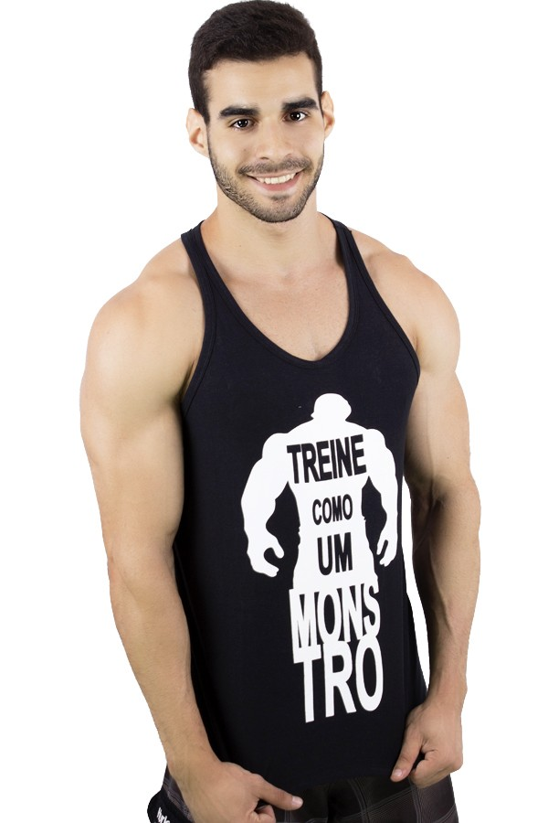 Camiseta Regata (Treine Como Um Monstro)  02714f37c0a