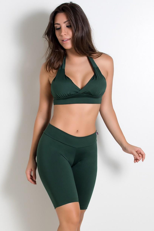 Top Diana Liso com Bojo (Verde Escuro) | Ref: KS-F314-010