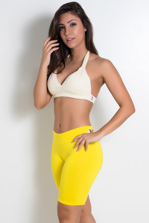 Top de Malha Isadora Amarelo | Ref: KS-F1005-007