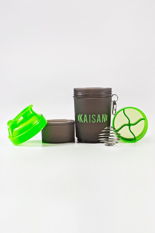 Coqueteleira de 500 ML com Mola e 2 Compartimentos (Fumê / Verde Limão) | Ref: KS-CK02-007