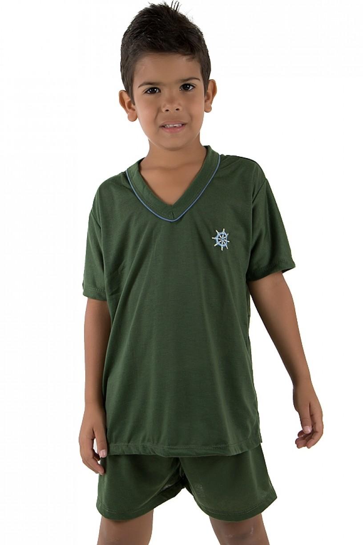 CEZ-PA037-004_Pijama_infantil_mas._Curto_037_Verde_Escuro_CEZ-PA037-004