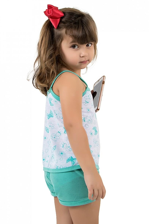 CEZ-PA086-002_Babydoll_Infantil_086_Verde_Piscina__Ref:_CEZ-PA086-002