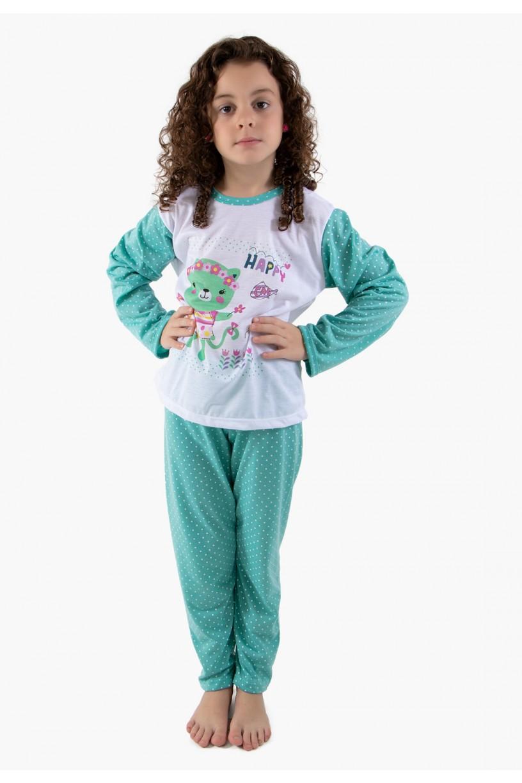 CEZ-PA108-007_Pijama_longo_de_Malha_Infantil_108_Verde__Ref:_CEZ-PA108-007