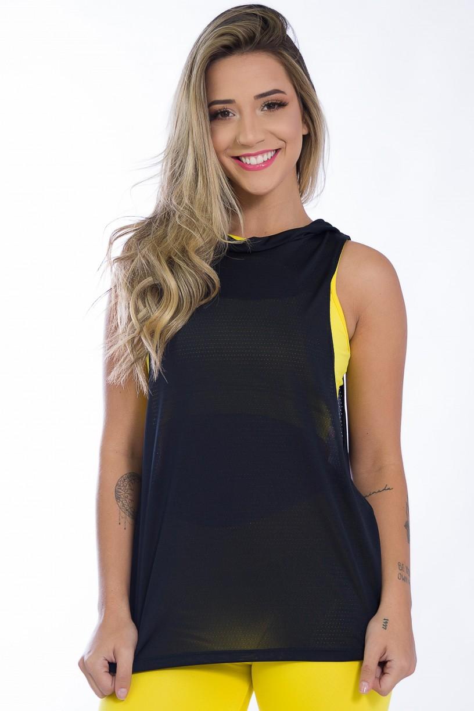 KS-F1431-001_Camiseta_Dry_Fit_com_Capuz_Preto__Ref:_KS-F1431-001