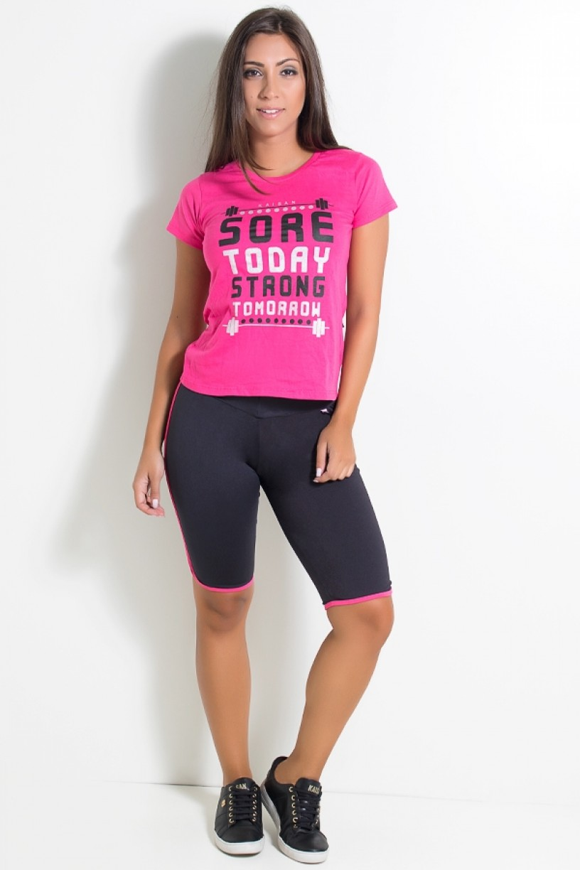 KS-F977-001_Bermuda_Ciclista_Preta_com_Vies_Rosa_Pink__Ref:_KS-F977-001