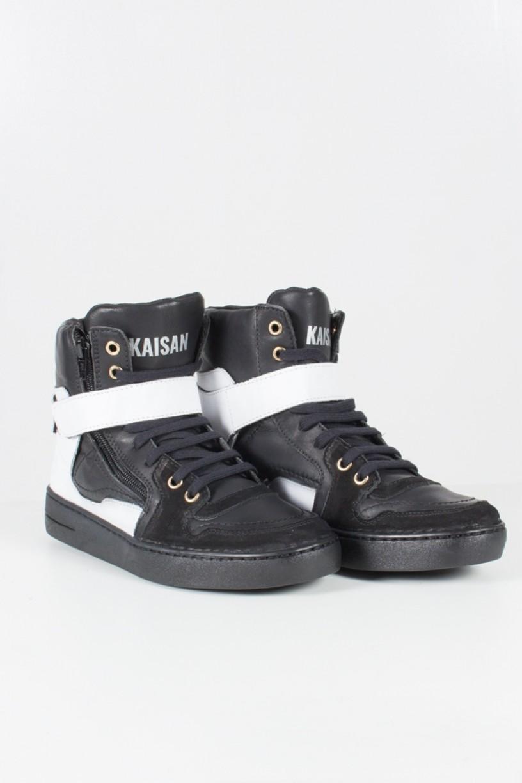 KS-T34-001_Sneaker_Unissex_Preto_com_Branco__Ref:_KS-T34-001