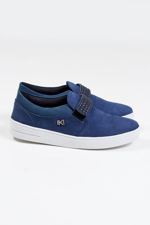 KS-T43-001_Tenis_Mini_Sneaker_com_Velcro_Nobuck_Jeans__Ref:_KS-T43-001