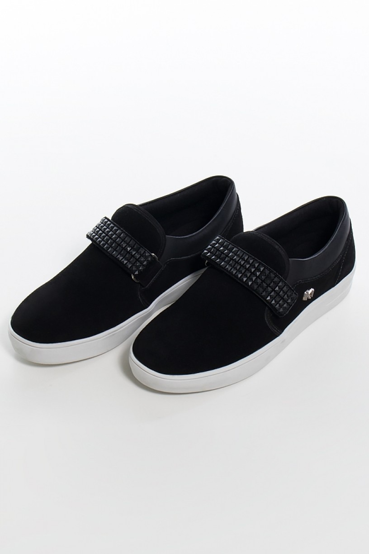 KS-T43-002_Tenis_Mini_Sneaker_com_Velcro_Nobuck_Preto__Ref:_KS-T43-002