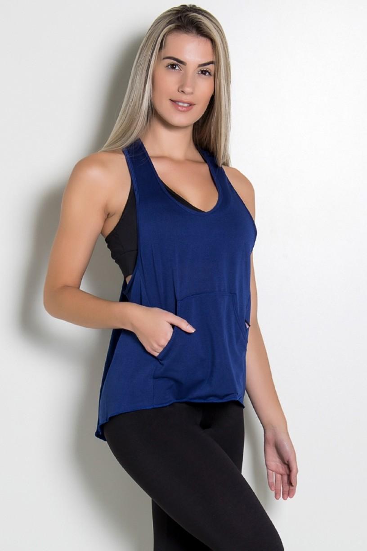 KS-F273-004_Camiseta_Dry_Fit_com_Bolso_Marissol_Azul_Marinho__Ref:_KS-F273-004