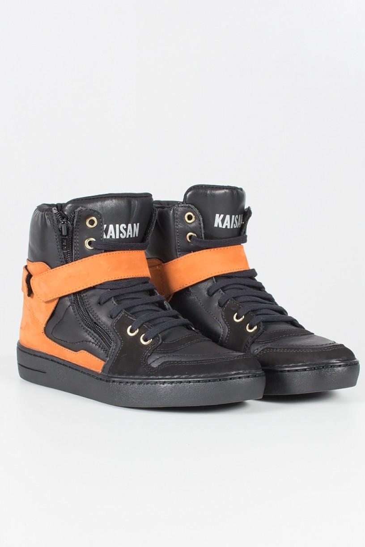 T40_Sneaker_Preto_com_Laranja__Ref:_T40
