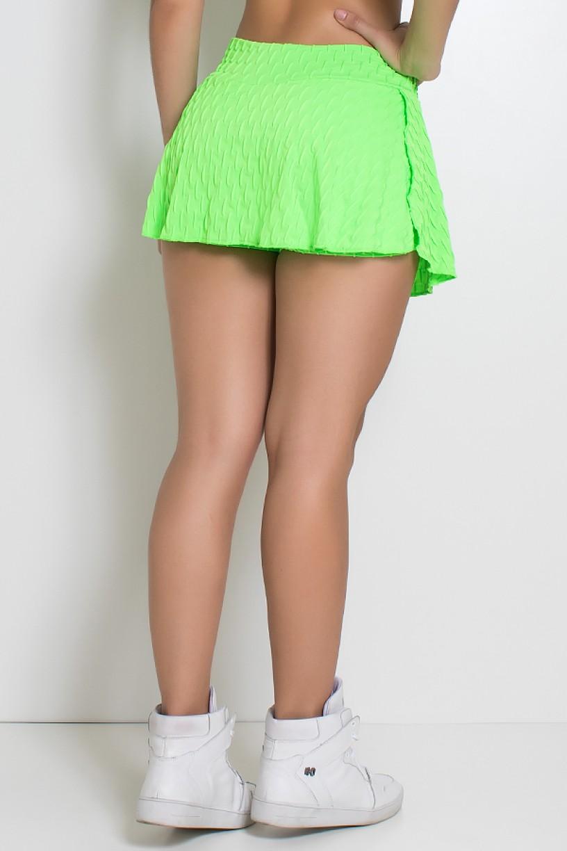 Short Saia Isabelle Bolha Fluor (Verde Limão Fluor) | Ref: KS-F294-002