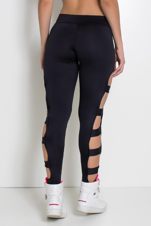 Calça Legging Rasgada (Preto) | Ref: KS-F98-005