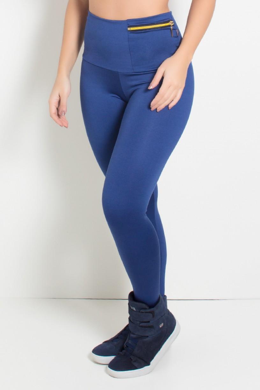 Calça com Bolso e Zíper Adele (Azul Marinho) | Ref.: KS-F335-002
