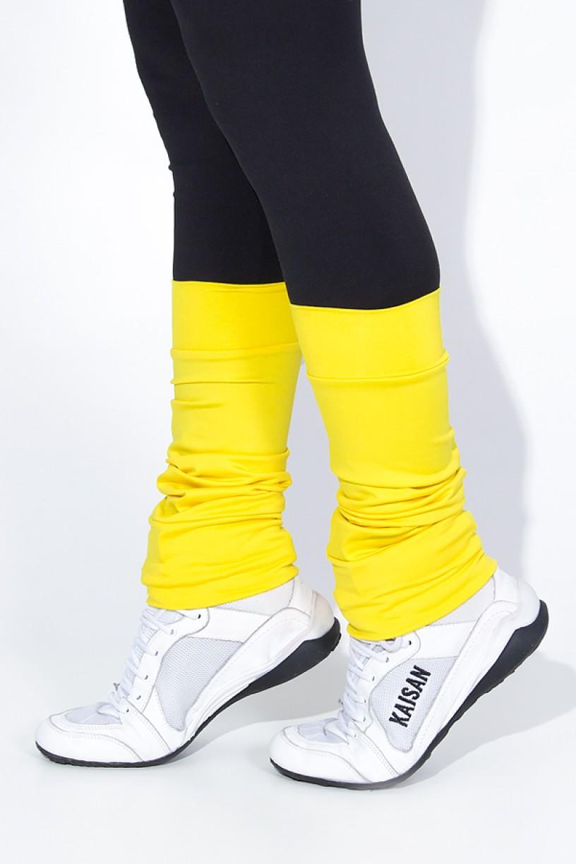 Polaina Fitness Lisa (O Par) (Amarelo) | Ref: KS-F182-007