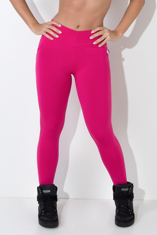 Calça Levanta Bumbum com Bolso (Rosa Pink) | Ref: KS-F488-005