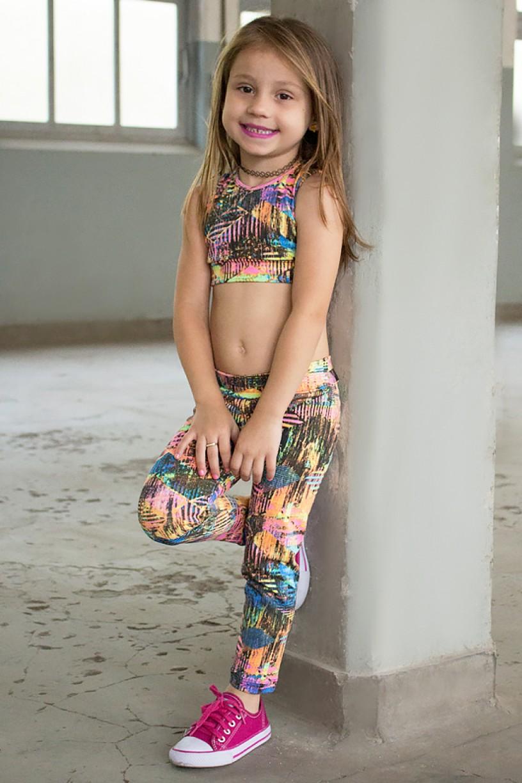 Kit com 5 (cinco) Leggings Infantis com Estampas Variadas (M)   Ref: KS-KI01-002