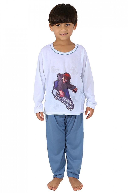 Pijama Infantil Longo 140 (Azul)