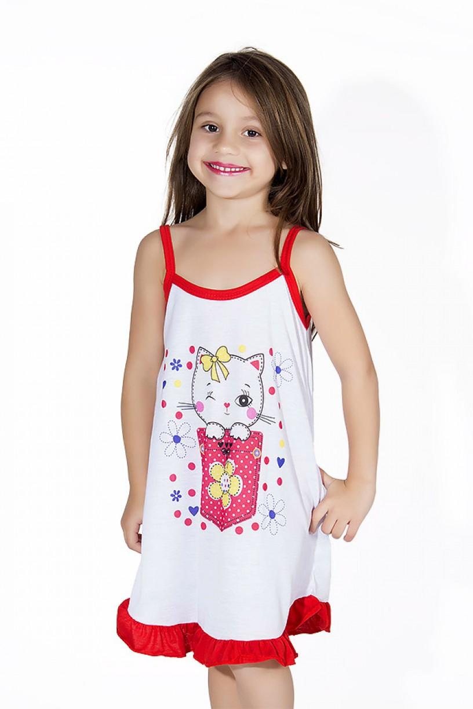 Camisola Infantil 141 (Vermelha com gatinha) AB
