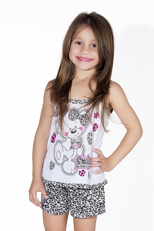 Babydoll Infantil 201 (Cinza com oncinha)