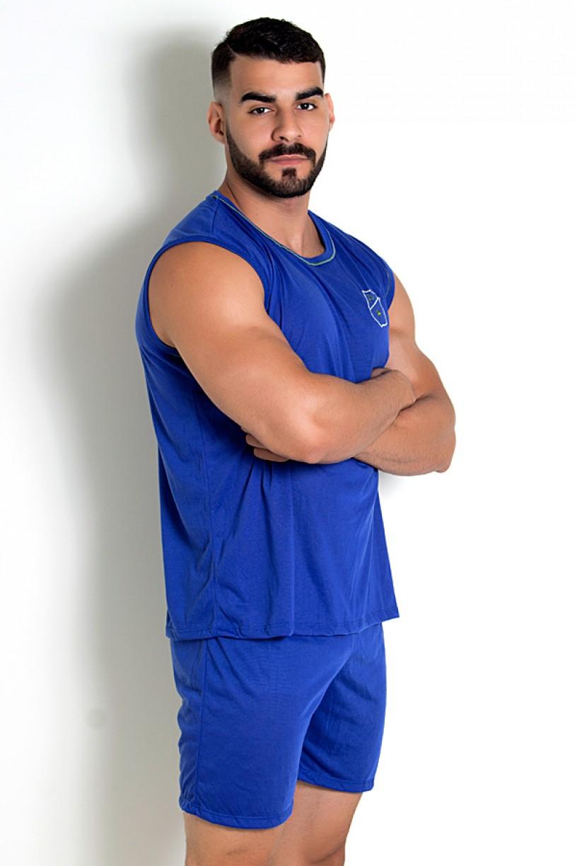Pijama Masculino Camiseta 072 (Azul)   Ref: CEZ-PA072-003
