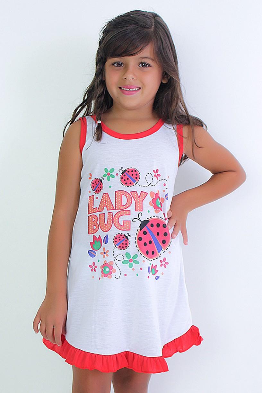 Camisola Infantil 060 (Vermelha com joaninha) Ref: CEZ-CM09-003