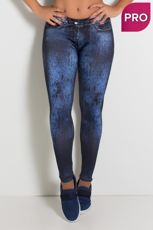 Legging Sublimada PRO (Jeans Degradê) | Ref: NTSP34