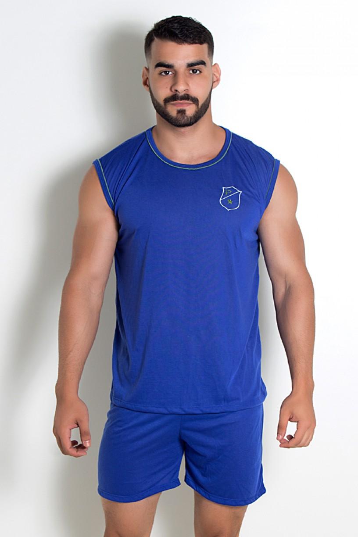 Pijama Masculino Camiseta 072 (Azul) | Ref: CEZ-PA072-003