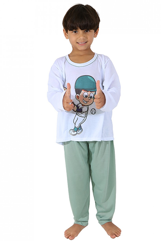Pijama Infantil Longo 140 (Verde)