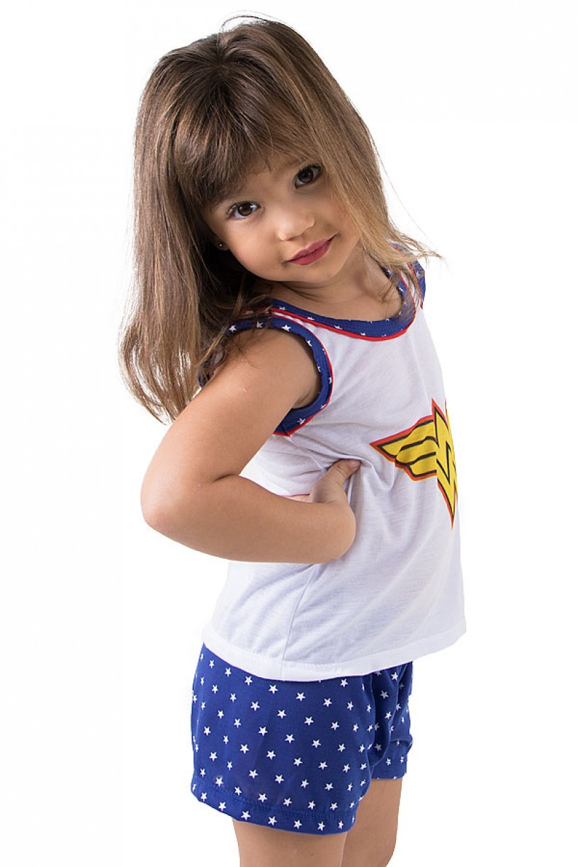 Baby-doll de Malha Infantil Maravilha 289 (Azul) | Ref.: CEZ-PA289-001