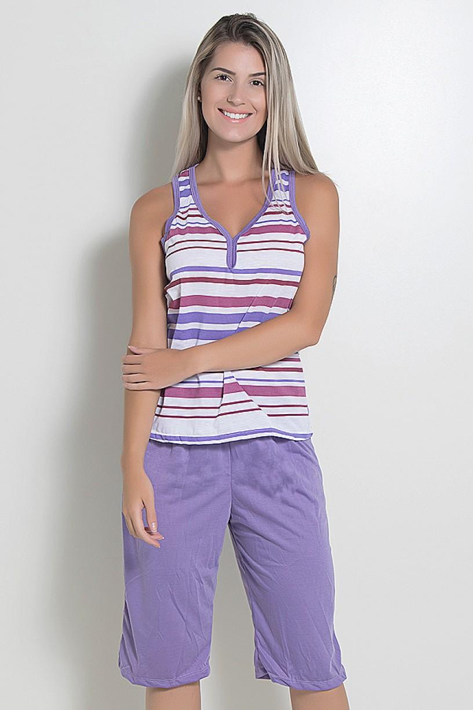 Pijama Pescador 239 (Lilás listrado)