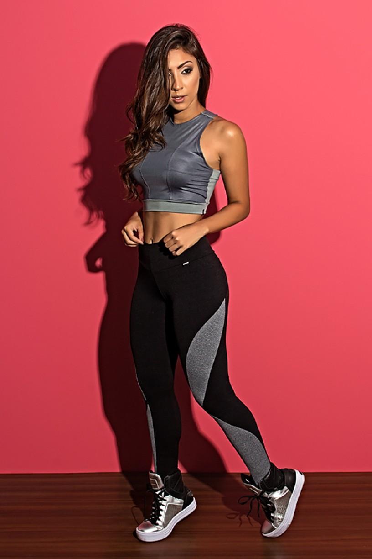 Calça Naomi com Detalhe Mescla | Ref: KS-F212-001