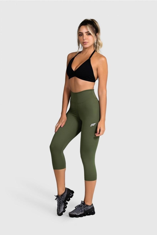Calça Corsário Fitness Básica (Verde Militar) | Ref: GO2-I