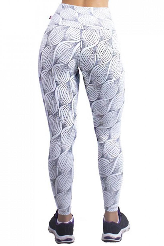 Calça Legging Cós Alto Tecido Jacquard (Alto-Relevo)