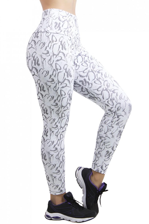 Calça Legging Cós Alto Tecido Jacquard | Ref: F560