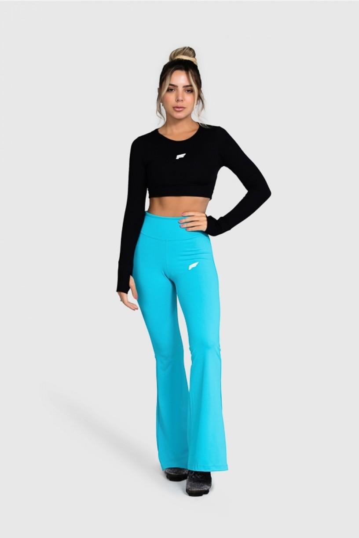Calça Flare Fitness Básica (Azul) | Ref: GO4-E