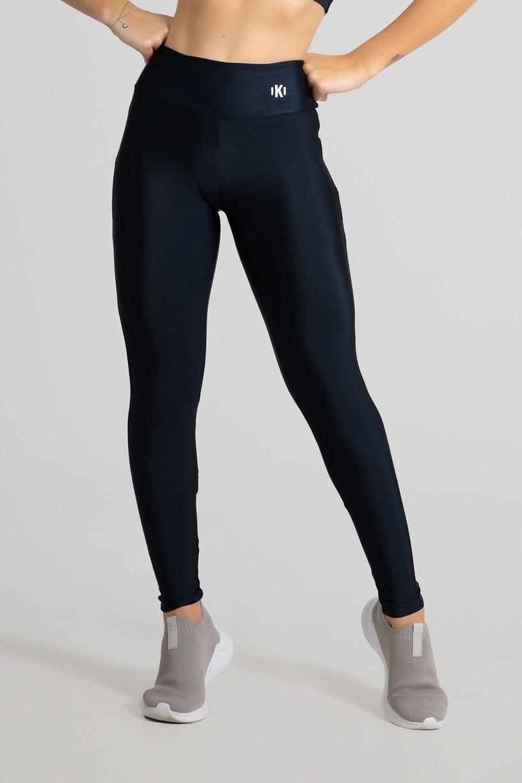 Calça Legging com Recorte Meia Lua (Azul Marinho / Azul Claro) | Ref: GO462-A