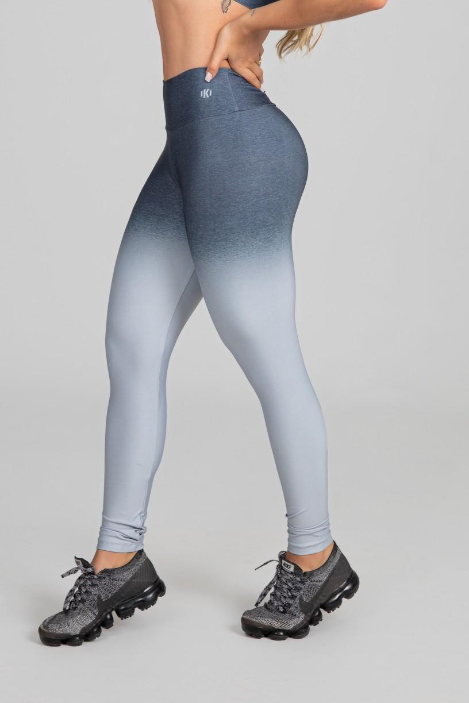 Calça Legging Estampa Digital com Cós Duplo (Grey Blend)   Ref: K2977-A