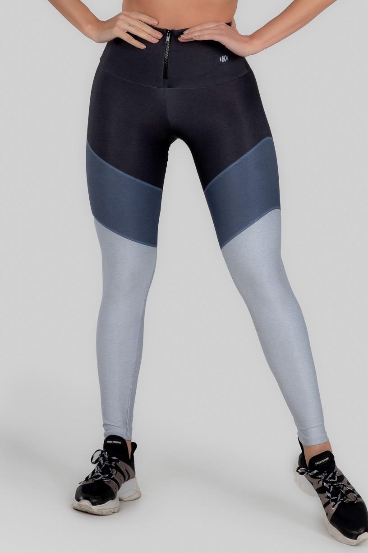 Calça Legging Estampa Digital com Zíper no Cós (Classic Marine)   Ref: K3001-A