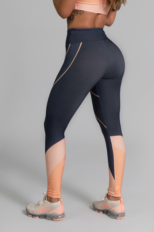 Calça Legging Fitness Estampa Digital Coral Brand | Ref: GO343