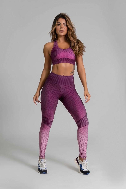 Calça Legging Fitness Estampa Digital Fashion Rose | Ref: GO335