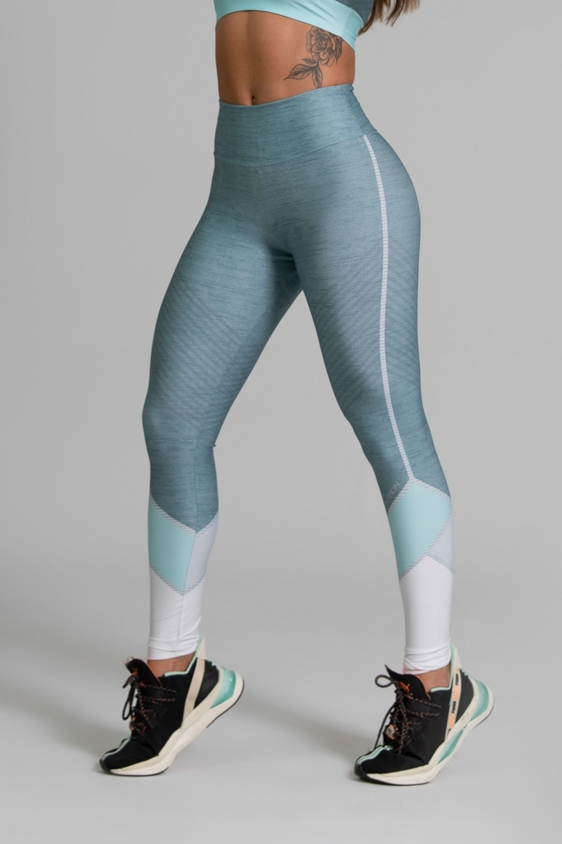 Calça Legging Fitness Estampa Digital Green Expose | Ref: GO339