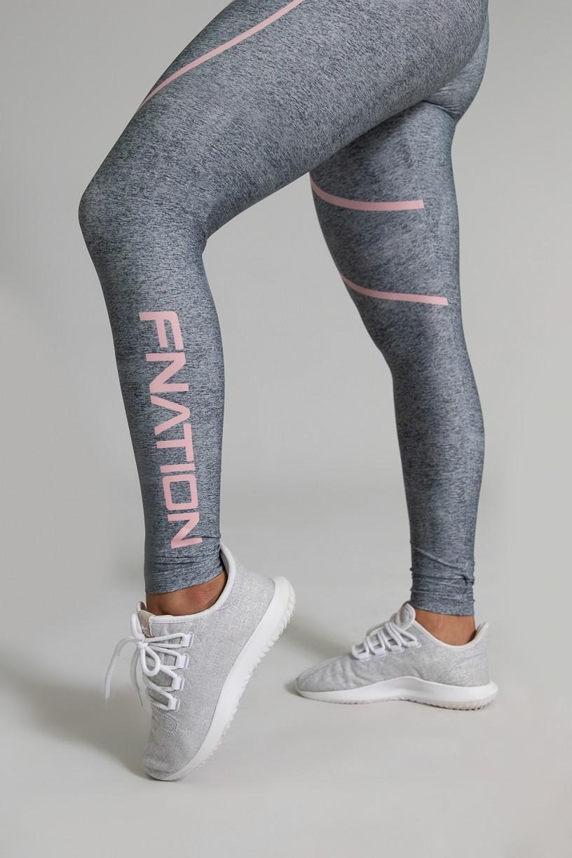 Calça Legging Fitness Estampa Digital Pink Fusion   Ref: GO347