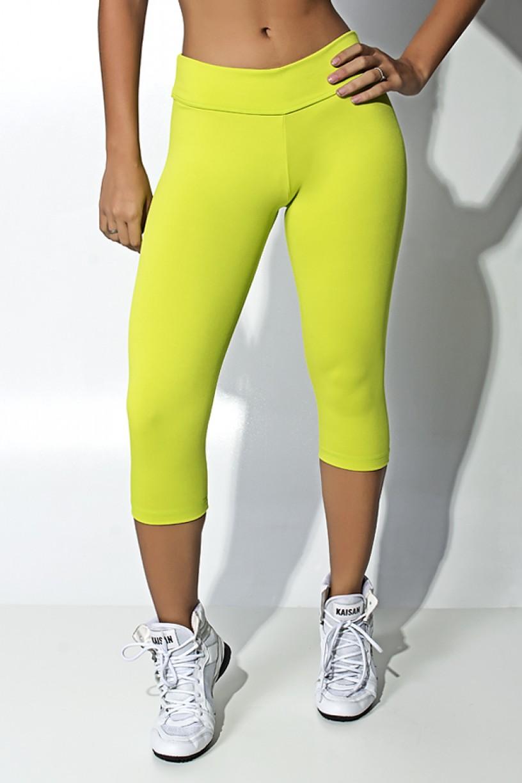 Calça Corsário Suplex (Verde Limão)