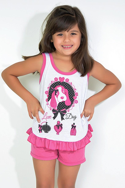 Babydoll Infantil 059 (Pink com cachorro)