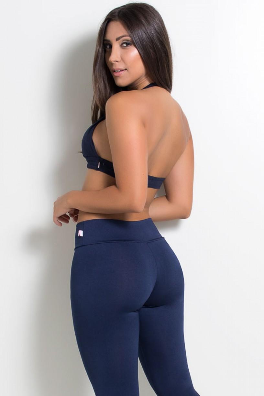Top de Malha Isadora Azul Marinho   Ref: KS-F1005-003