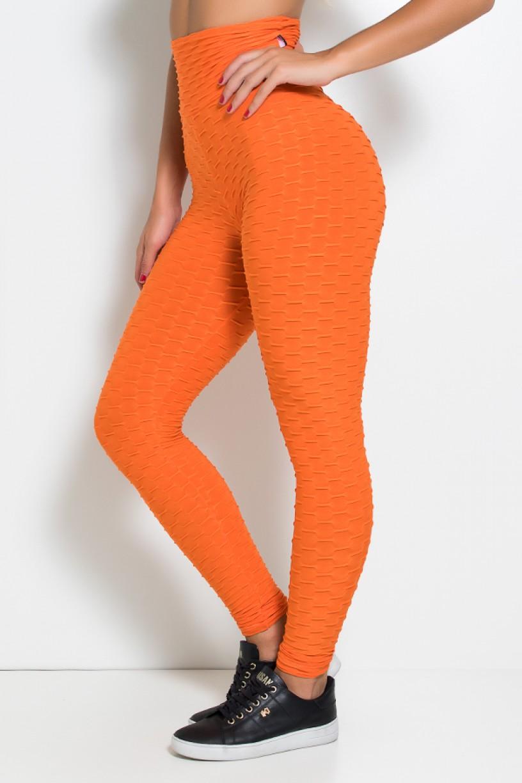 Calça Legging Tecido Bolha (Laranja) | Ref: KS-F103-008